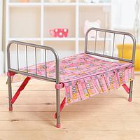 Кровать для кукол, металлический каркас, фото 1