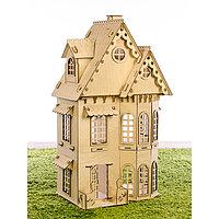 Конструктор «Кукольный домик», 2 этажа, фанера 3 мм