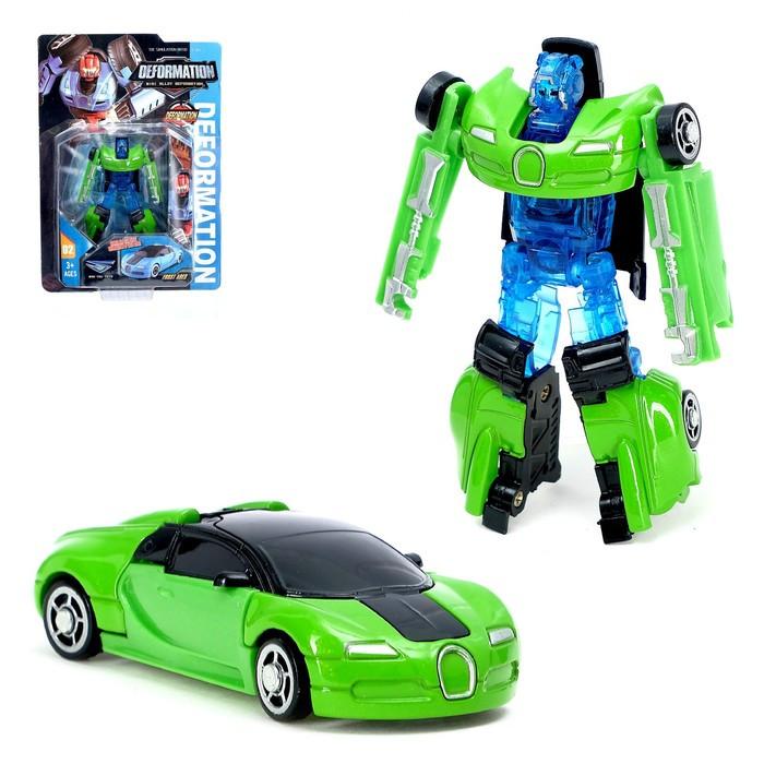 Трансформер-робот металлический «Автобот», цвета МИКС