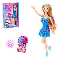 Кукла модель шарнирная «Эмма» с аксессуарами и наклейками для маникюра, МИКС
