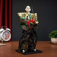 """Кукла коллекционная """"Самурай в кимоно и с повязкой"""""""