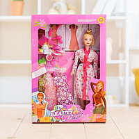 "Кукла модель ""Вика"" в халате с аксессуарами, фото 1"