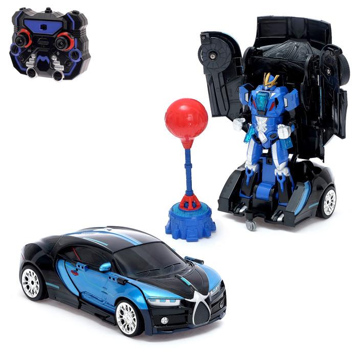 Робот-трансформер радиоуправляемый «Автобот-боксёр», спорткар, с аккумулятором, заряд от USB