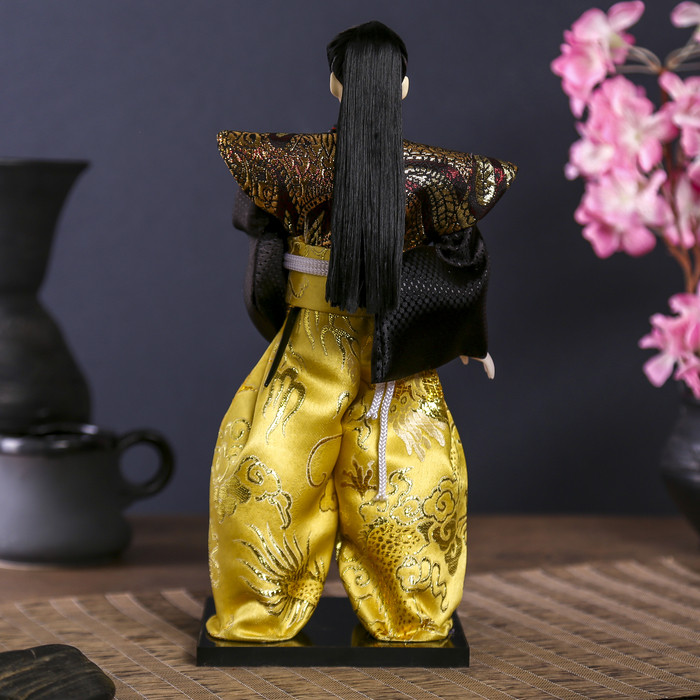 """Кукла коллекционная """"Самурай с длинными волосами с мечом"""" 30х12,5х12,5 см - фото 4"""