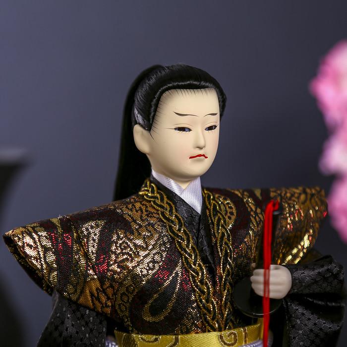 """Кукла коллекционная """"Самурай с длинными волосами с мечом"""" 30х12,5х12,5 см - фото 5"""