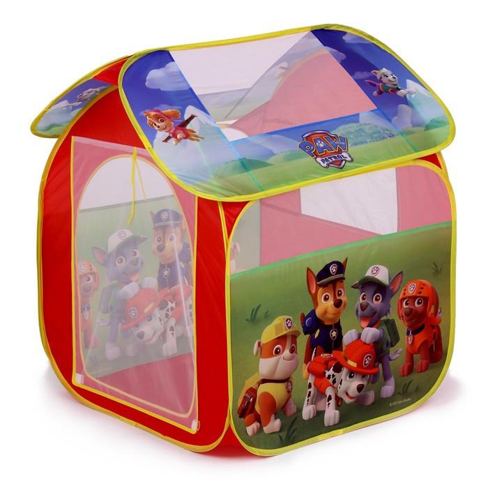 Детская игровая палатка «Щенячий патруль» в сумке