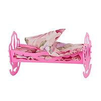 Кроватка кукольная, с комплектом белья: матрас, подушка, одеяло