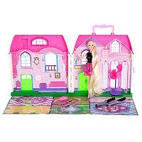 Дом для кукол «Уют», с куклой шарнирной и аксессуарами для создания причёски