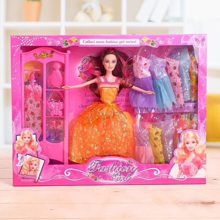 Кукла модель «Анна» с набором платьев, с аксессуарами цвета: МИКС