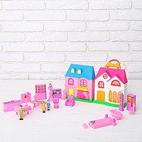 Дом для кукол 2 в 1, складной, с аксессуарами, фото 1