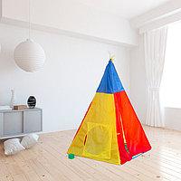 Палатка детская «Разноцветный домик», 142 × 100 × 100 см, фото 1
