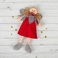Подвеска «Ангел», кукла, полосатый шарфик, цвета МИКС