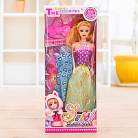 Кукла модель «Арина» с летними нарядами и аксессуарами, МИКС