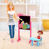 Кукла модель шарнирная «Учительница» с малышкой и аксессуарами, МИКС, фото 1