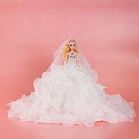 Кукла на подставке «Принцесса», белое платье с воланами, фото 1