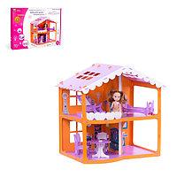 Домик для кукол «Дом Анжелика», оранжево-сиреневый, с мебелью, фото 1
