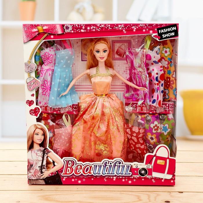"""Кукла модель """"Мария"""" с набором платьев и аксессуаров, МИКС"""