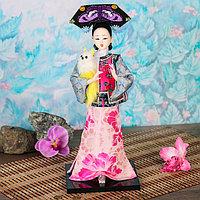 """Кукла коллекционная """"Китаянка в национальном платье с собакой"""" 32х12,5х12,5 см"""