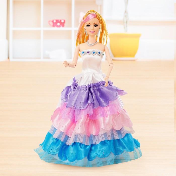 Кукла модель шарнирная «Анна» в пышном платье, МИКС