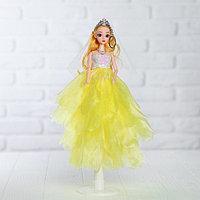 Кукла на подставке «Принцесса», жёлтое платье, белая фата, фото 1