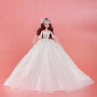 Кукла на подставке «Принцесса», белое платье со шлейфом, фото 1