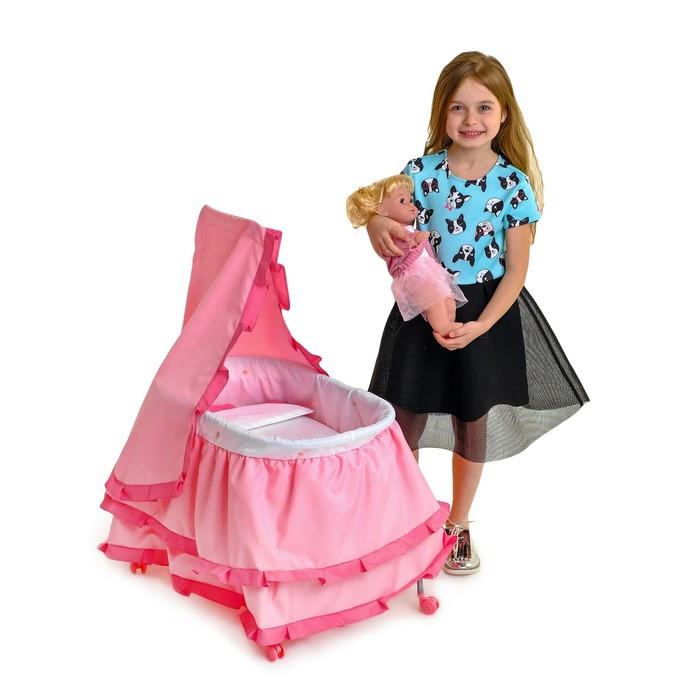Кровать для кукол «Принцесса», металлический каркас