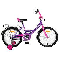 """Велосипед 18"""" Novatrack Vector, 2019, цвет фиолетовый"""