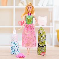 Кукла модель шарнирная «Оля» с набором платьев, с аксессуаром, МИКС