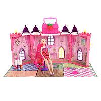 Замок для кукол «Сказка», с куклой шарнирной и аксессуарами для создания причёски, фото 1