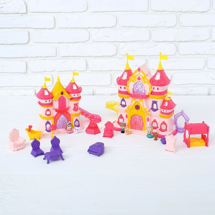 Замок для кукол «Дворец» с мебелью и фигурками, световые и звуковые эффекты