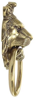 Ручка-дверной молоток *Лев с кольцом*, *Empire* 109х190мм, латунь пат. + молоточек и крепеж