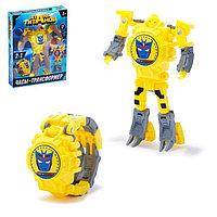 Робот-трансформер «Часы», с индикацией времени, цвет жёлтый, фото 1