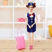 Кукла модель шарнирная «Стюардесса» с аксессуарами, МИКС