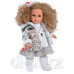 LLORENS: Кукла Елена 35см, блондинка с кудрявыми волосами