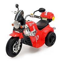 Электромобиль «Чоппер», с аккумулятором, световые и звуковые эффекты, цвет красный