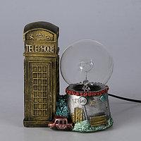 """Плазменный шар """"Лондонская телефонная будка"""""""