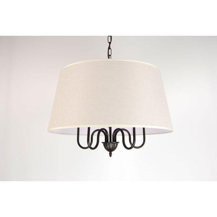 "Люстра ""Амалия"" 5 ламп 60W E14 коричневый 53х35 см"
