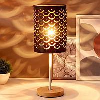 Лампа настольная 16034/1 E27 40Вт черный 14х14х43 см