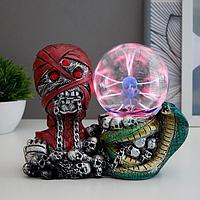 """Плазменный шар """"Мумия со змеёй"""" 21,5х10х17,5 см"""