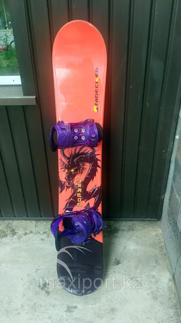 Сноуборд б/у Nidecker 155 С креплениями Burton Citizen торг