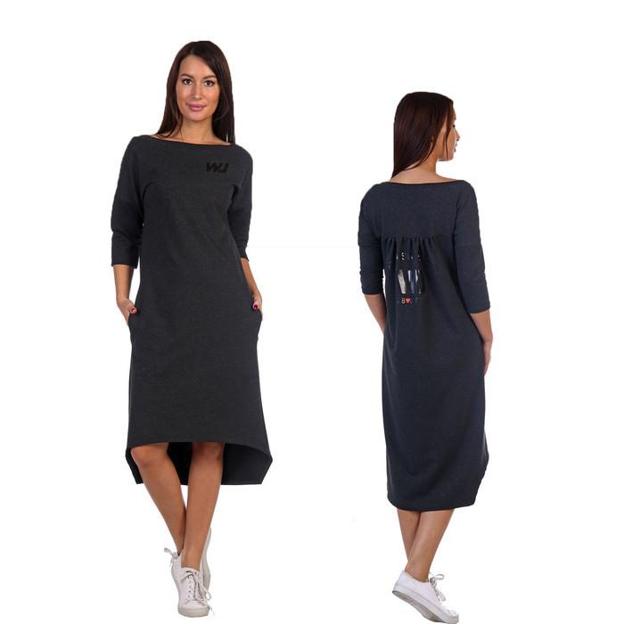 Платье женское «Комильфо», цвет антрацит, размер 42 - фото 1