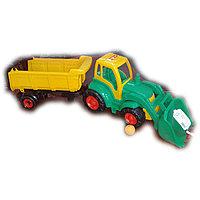 Инерционная машина, грузовик,  погрузчик, пластмассовая, Полесье.