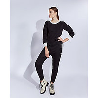 Костюм женский трикотажный MINAKU Jenna (свитшот, брюки), размер 48-50, цвет чёрный