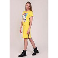 Платье женское, цвет жёлтый, размер 46