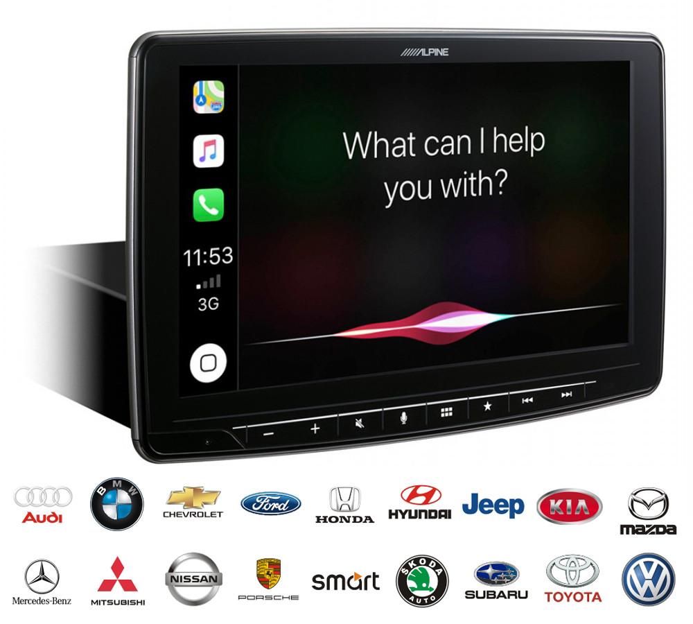 Автомагнитола Alpine ILX-F903D - цифровой мультимедийный ресивер DAB + с 9-дюймовым сенсорным экраном WVGA.