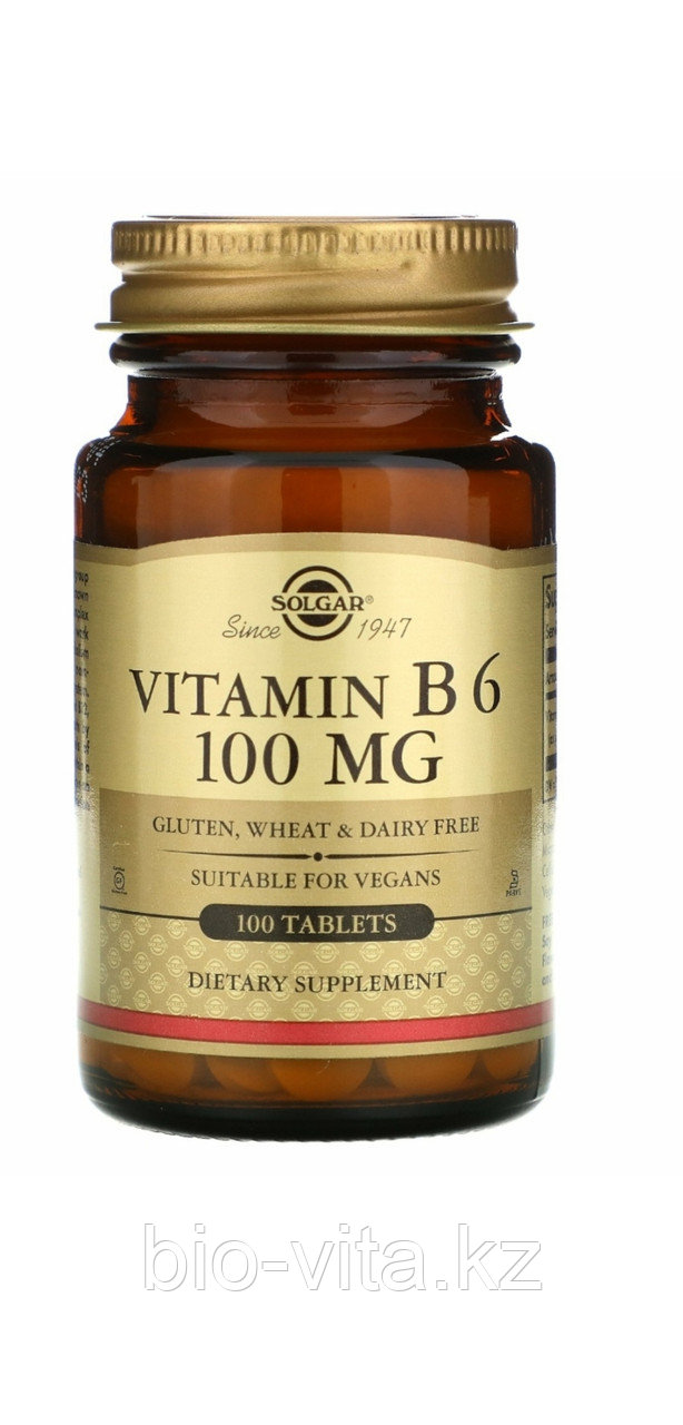 Solgar В6, 50 мг, 100 таблеток.