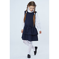 Сарафан для девочки, цвет синий, рост 140