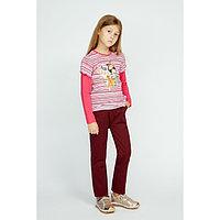 Кофточка с длинным рукавом для девочки «Мотылёк» цвет розовый, рост 116 см