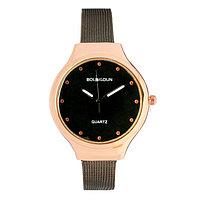 """Часы наручные женские """"Гатти"""", циферблат d=3.2 см, темный хром"""
