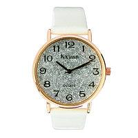 """Часы наручные женские """"KX - гламур"""" d=3.5 см, белые"""